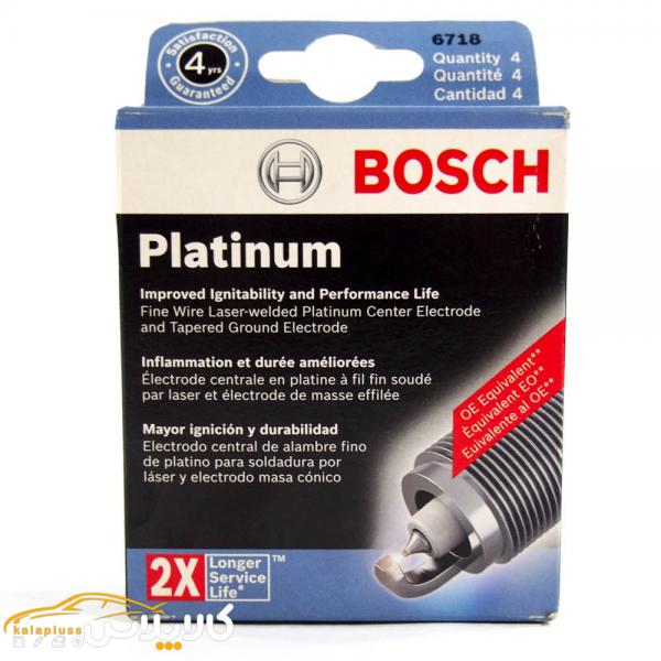 شمع خودرو بوش آلمان مدل Platinum 2X سوزنی بسته 4 عددی
